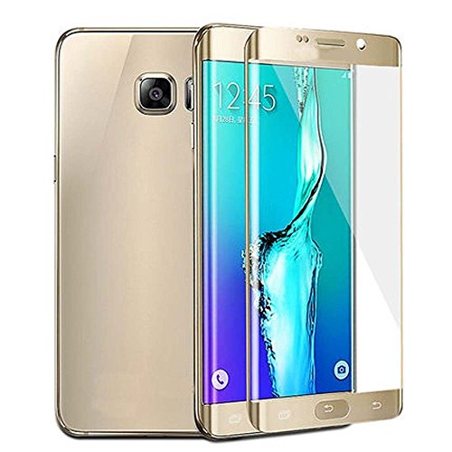 Sparkling Trends Full Body Curved Tempered Glass for Samsung Galaxy S7 Edge GOLD