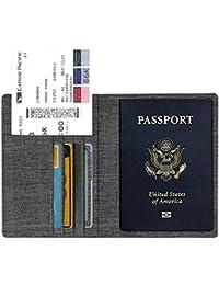 Fintie Porta Passaporto da Viaggio Portafoglio con Protezione RFID per Carte di credito ID Documenti Custodia