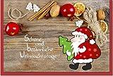 metalum Premium-Weihnachtskarte in tollen Farben mit ausgefallener, sehr filigraner, 2-dimensionaler Papierverzierung in Form eines kleinen Weihnachtsmannes - nun kann es Weihnachten werden!