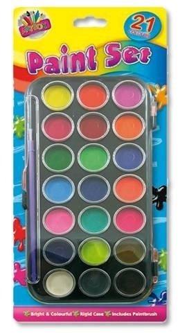 ts und Crafts Farben mit BRU Blatt Set, Kunststoff, Farbe Sortiert, Glasschmuck ()