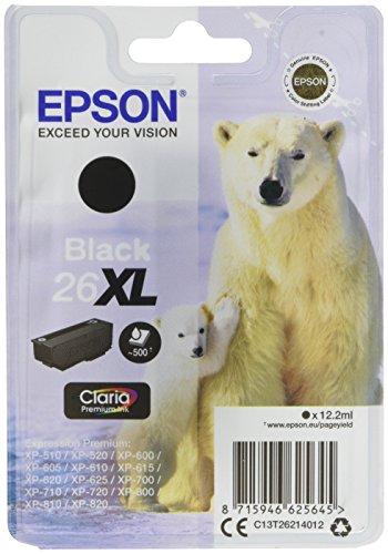 Epson C13T26214012 26XL Cartouche d'encre d'origine Noir