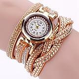 Schöne Uhren, Damen Modeuhr / Armbanduhr / Armband-Uhr Quartz Punk / Mehrfarbig PU BandVintage / Glanz / Eiffelturm / Böhmische / Bettelarmband / Cool ( Farbe : Gold , Großauswahl : Für Damen-Einheitsgröße )