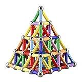 206 Stücke Puzzle Magnetische Bausteine Spielzeug Magnet Bau Bauen Kit Bildung Spielzeug für Kinder Spielen Stacking Spiel mit Magnetischen Ziegeln und Sticks