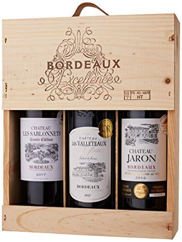 Coffret Bordeaux - Vins Médaillés - Château les valleteaux, Château les Sablonnets, Château Jaron (3x0.75l)