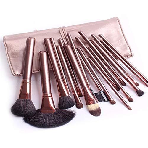 WFHhsxfh Zweifarbiges Parkettpaket 18-teiliges professionelles Make-up-Pinsel-Set Make-up-Pinsel-Werkzeug Lidschatten-Pinsel. Make-up Pinsel Set - Parkett-tool