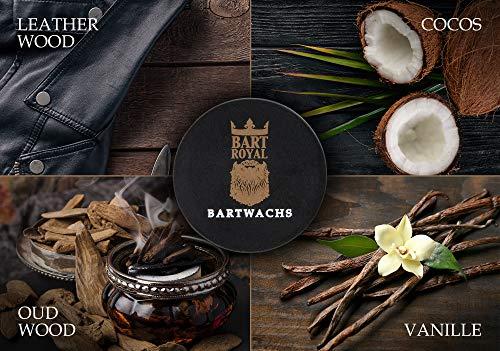 Bart Royal Bartwachs Oud Wood, Wachs für das Bartstyling, pflegt mit wertvollen Ölen und Bienenwachs, extra starker Halt, Made in Germany, 1 x 30ml