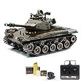 RC ferngesteuerter Bulldog M41A3 Panzer mit Schussfunktion und 2.4GHz, Raucherzeugung und Souneffekte vorhanden, Kettenfahrzeug 1:16, Neu