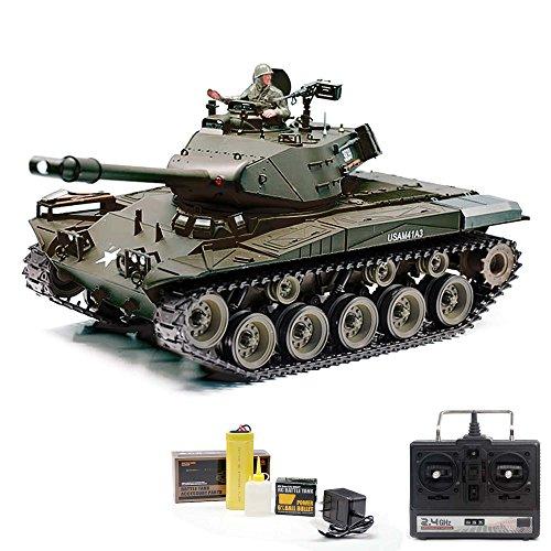 U.S. M41A3 WALKER BULLDOG Panzer - RC R/C ferngesteuerter Panzer mit SCHUSS & RAUCH & SOUND - FUNKTION!! Massstab 1:16 +Mit Munition +Power-Motor und Akku +Ready-To-Drive!