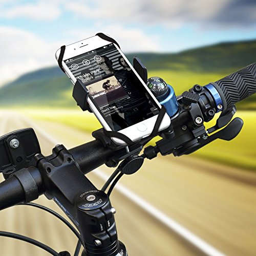 Color Dreams Soporte móvil bicicleta o motocicleta universal , PVC alta durabilidad, compatible con todos los manillares y todos los teléfonos móviles como Iphone SE 6S 6S plus 6 6 plus 5 5S 5C 4 4S , Samsung Galaxy S7 / S6 / S5 / S4 / Note 4/3 , Sony, BQ, Motorola, Google Nexus, LG G3 y muchos otros teléfonos o dispositivos GPS. Negro