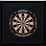 Viper Wood Framed Dartboard Backboard, Dark Mahogany Finish by Viper by GLD Products