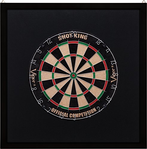 Preisvergleich Produktbild Viper Wood Framed Dartboard Backboard, Dark Mahogany Finish by Viper by GLD Products