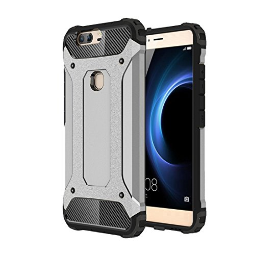 GHC Cases & Covers, für Huawei Honor V8 Tough Armor TPU + PC Kombinationskoffer ( Color : Grey ) (Iphone 5c Fällen Wie Speck)