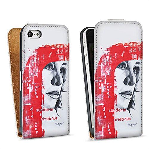 Apple iPhone 6 Housse Étui Silicone Coque Protection Femme Femme Visage Sac Downflip blanc