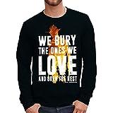 Sweatshirt Bury And Burn - Carl - The Walinkg Dead - FILM by Mush Dress Your Style - Herren-XXL-Schwarz