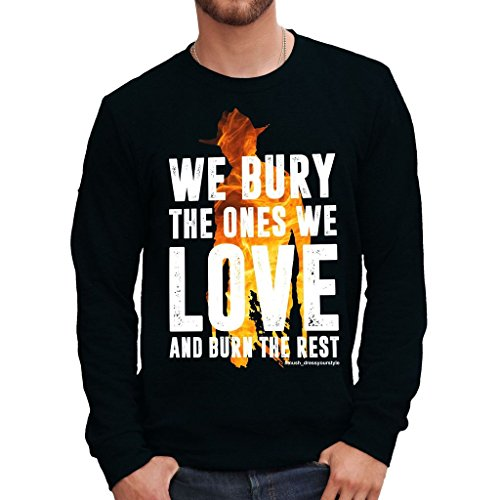 Sweatshirt Bury And Burn - Carl - The Walinkg Dead - FILM by Mush Dress Your Style - Herren-XXL-Schwarz (Burn-jungen-t-shirt)