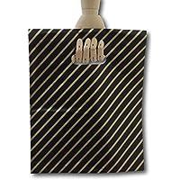 Eposgear - Bolsas de regalo (100 unidades, tamaño mediano, plástico), color negro y dorado
