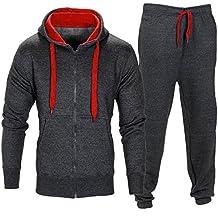 Yanhoo Pantalones elásticos de los Hombres Pantalones de Chaqueta con Capucha Pantalones de chándal Deportivos para