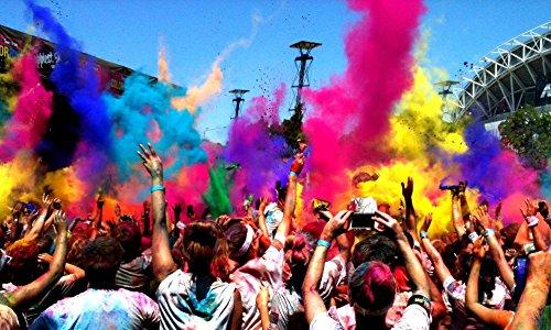 Abcuv Farbpulver-Beutel, Festivals, Partys, Holi, 6 x 100 g Beutel, 6 Farben