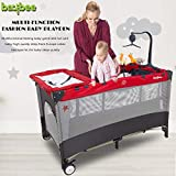 Baybee Lullaby Baby playpen Playard - Cradle for Baby Smart Folding Baby Cot