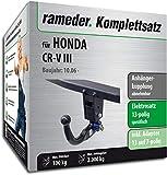 Anhängerkupplung abnehmbar/Rameder komplett-Kit + 13POL Elektrische für Honda CR-V III (114079â 06247â 1)