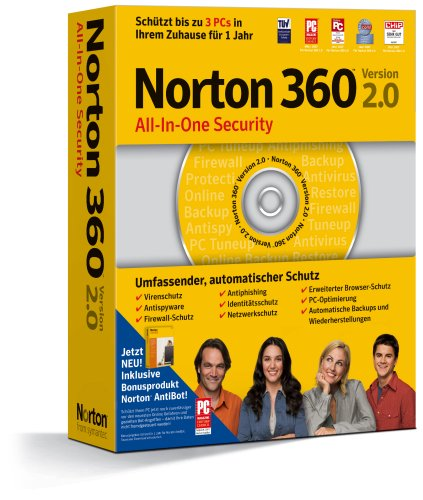 Norton 360 2.0 incl. Norton AntiBot 3 PCs (2 360 Norton Pc)