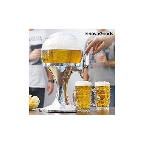 InnovaGoods Ball Coolant Beer Dispenser, PMMA, Silver, 24x24x42 cm