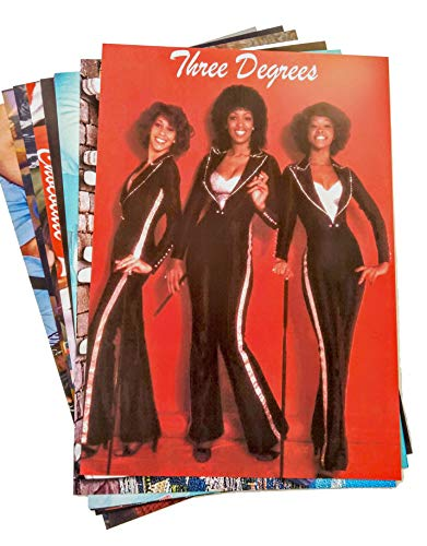 70s Stars and Bands Posters x 10. Inc. Three Degrees, Boney M, ABBA, Donna Summer.