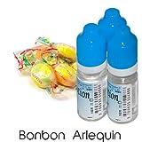 MA POTION - Lot de 3 E-Liquide Bonbon Arlequin, Eliquide Français Ma Potion, recharge liquide cigarette électronique. Sans nicotine ni tabac