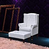 Luckyfu Dieser Chesterfield Sessel mit Armlehne und Fußstütze, weiß.Sessel Confortevole, Entspannt Muscolari und Allevia die Fatica.Relaxsessel Relaxsessel