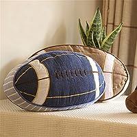 Simonshop Suave algodón fútbol Americano Rugby con Forma de Manta Almohada sofá cojín para los niños