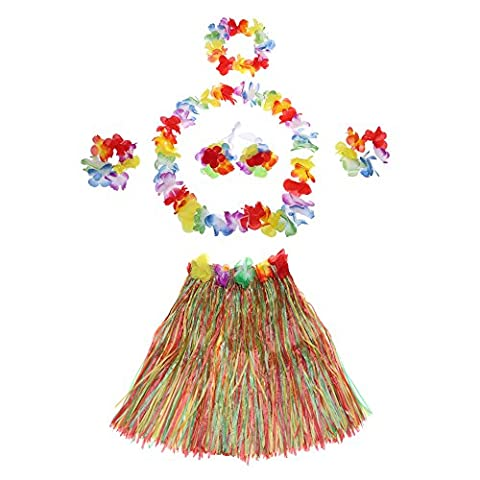 Anself Herbe Jupe Fleur Hula Lei Garland Nouvelle Main Costume