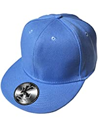 Underground Kulture casquette de baseball à visière plate Uni Bleu bébé