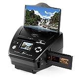 oneConcept Combo Scanner TG-179B Scanner per Diapositive e Pellicole SD 10 MP Sensore CMOS da 5 Megapixel Schermo da 6 cm Editing Funzione Slideshow Formato immagine: JPEG Colore Nero