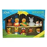 LiLaLu Entenkrippe, 12 Enten und Krippe, Limited Edition, Gummienten, Quietscheentchen, Badeente, Spielzeug, 2088