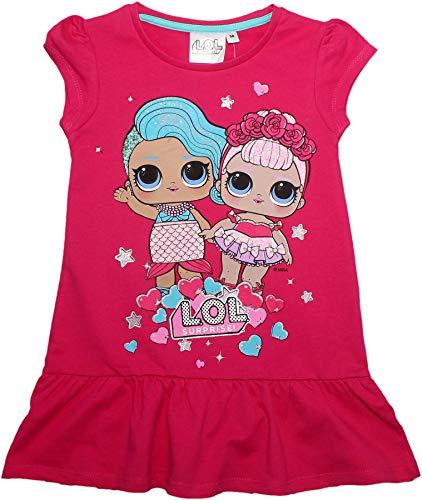 LOL Surprise Mädchen Glitzer Kleid Fuchsie 7-8 Jahre (Kleider Fuchsie Mädchen Für)