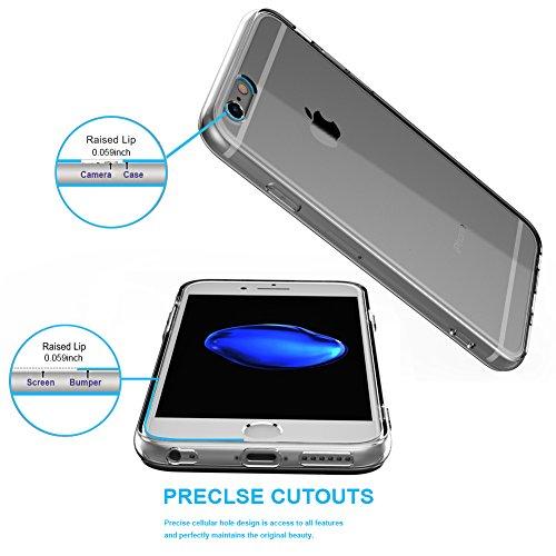 Cover iPhone 6,Cover iPhone 6s,NNIUK iPhone 6 Caso trasparente TPU gomma della pelle [anti-graffio] Ultra-sottile coperchio di protezione goccia per iPhone 6 / 6S, 4.7 inch Transparent