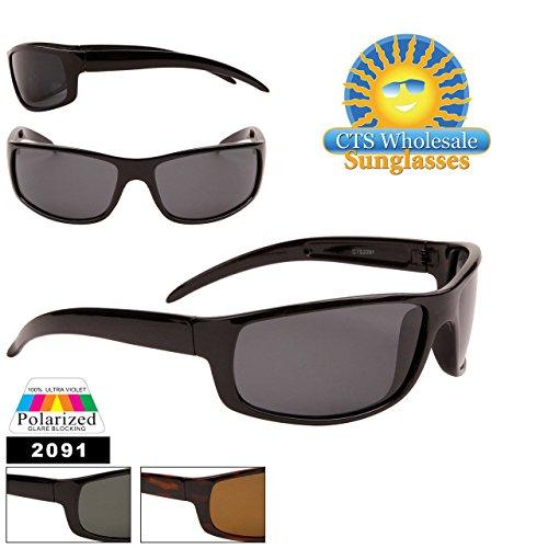 Unbekannt Sonnenbrille Sehstärke, polarisiert Sport Polarised Herren Damen cts2091, écaille/verres Marron