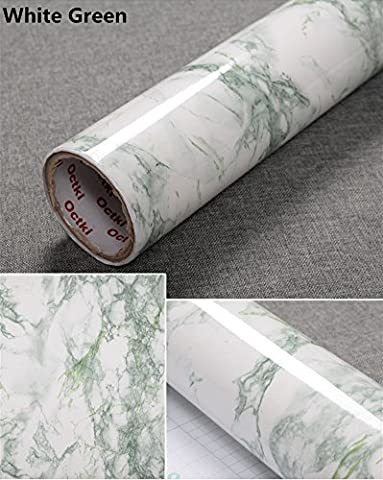 Effet Marbre Effet Granite yancorp Comptoir Film vinyle autocollant Papier peint peel-stick 61x 198,1cm, 61cmx2m, vert