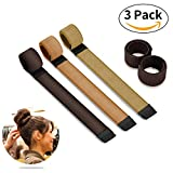 Bestidy 3 Stücke Womens Fashion Hair Styling Tool Donut Hair Bun Maker Frauen Twist Haar Don