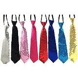Pailletten Glitzer Krawatte Schlips 8 Farben