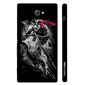 Sony Xperia M2 Flying Panda designer mobile hard shell case by Enthopia