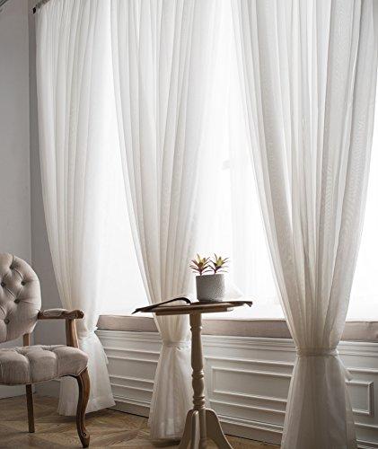 Xiaojingly tenda voile,le tende,gli schermi, gables porte-finestre,per soggiorno camera da letto balcone,ombrellone,tenda readymade,set di pannelli 1-b 400x270cm(157x106inch)