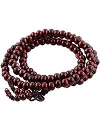 Yoga 6 mm joya de rosario de collar con colgante en forma elástica Mala cuentas de