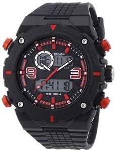 Nautec No Limit Sprint AD SP QZ-AD/PCBKPCBKBK-RD - Reloj analógico - digital de cuarzo para hombre, correa de plástico color negro de Nautec No Limit