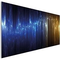 Blu oro metallizzato moderno astratto vetro acrilico moderno Wall Art XL