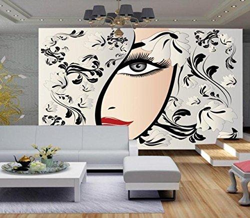 BZDHWWH Tapete Des Schönheitssalons 3D Tapetenbeschaffenheitshintergrund Wandwandbildmuster Maniküregeschäft-Tapetenwandbild,330cm(W) x 210cm(H)