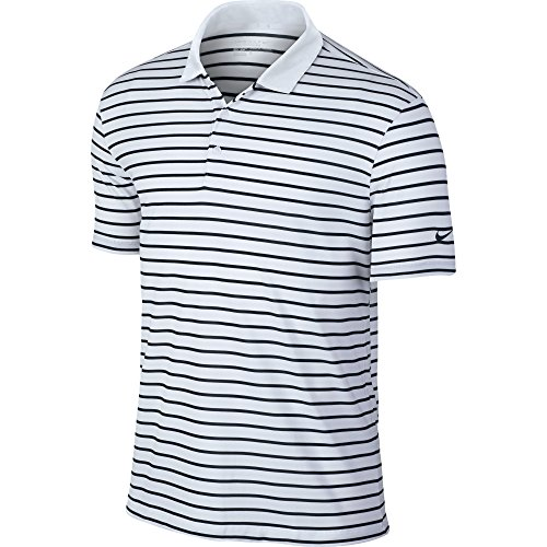 Nike Icon Stripe Golf Polo 2016 White/Black Small (Nike Schuhe Tasche Golf)