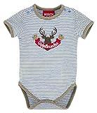 BONDI Body gestreift ´Gipfelkraxler´, stripe blue/grey-melange 74 Tracht Baby Jungs Artikel-Nr.91009