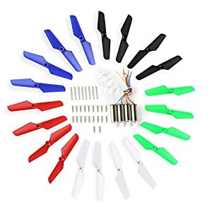 Coolplay Syma X11 X11C RC Quadcopter Full Set Spare Parts Included Blade,Motor,Main Gear with Mounting Screws - Upgraded 5 Colors
