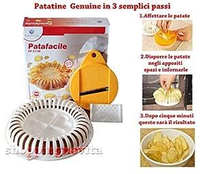 Patafacile,chips Patatine al forno e Cottura Senza Grassi in Microonde, novità, visto in tv, crea le tue patate comodamente a casa, Euronovità